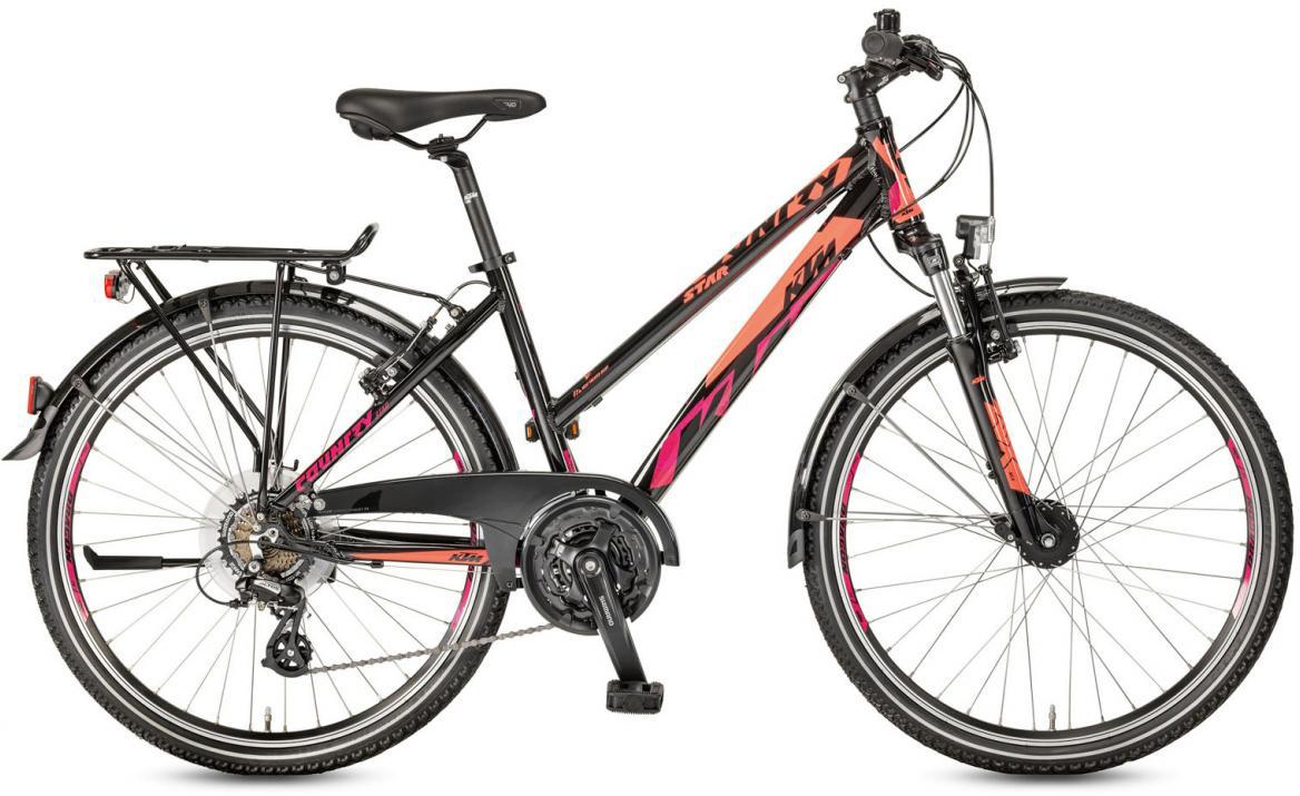 Велосипед горный KTM Country Star 26.21 Trapez 2017, цвет: черный, рама 14,5, колесо 26282194