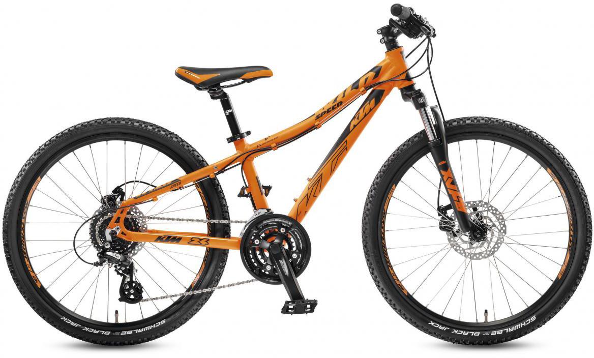 Велосипед детский KTM Wild Speed 24.24 Disc 2017, цвет: оранжевый, рама 12, колесо 24282203