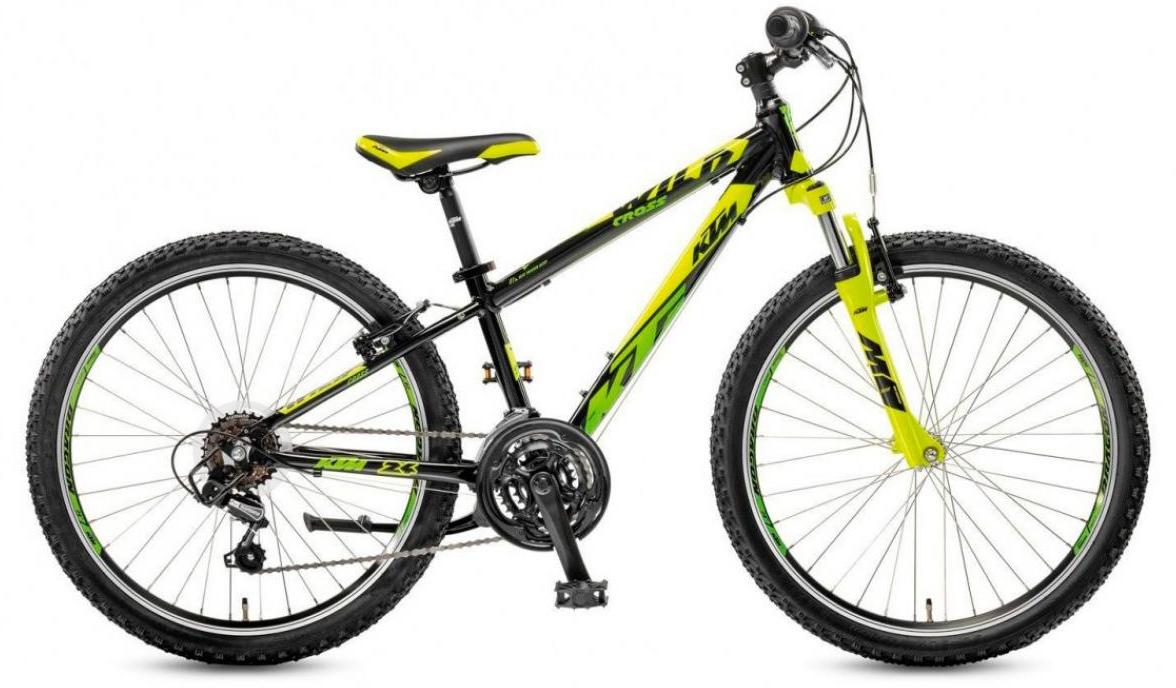 Велосипед детский KTM Wild Cross 24.18 2017, цвет: черный, рама 12, колесо 24282209