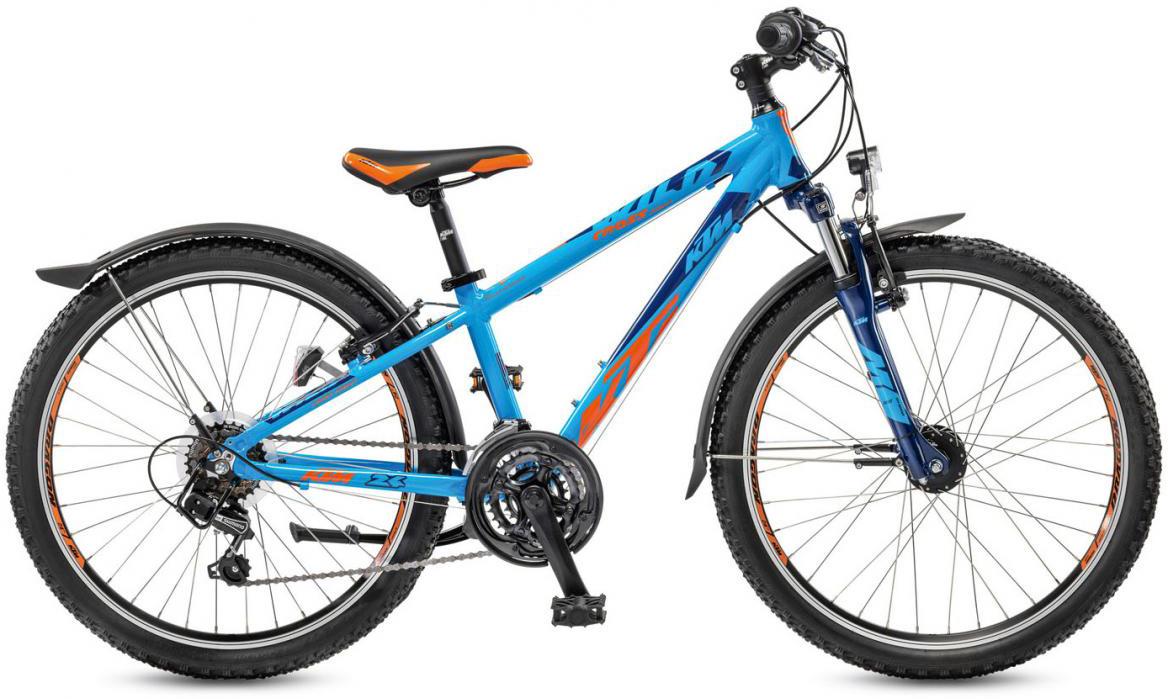 Велосипед детский KTM Wild Cross 24.18 Street 2017, цвет: синий, рама 12, колесо 24282210