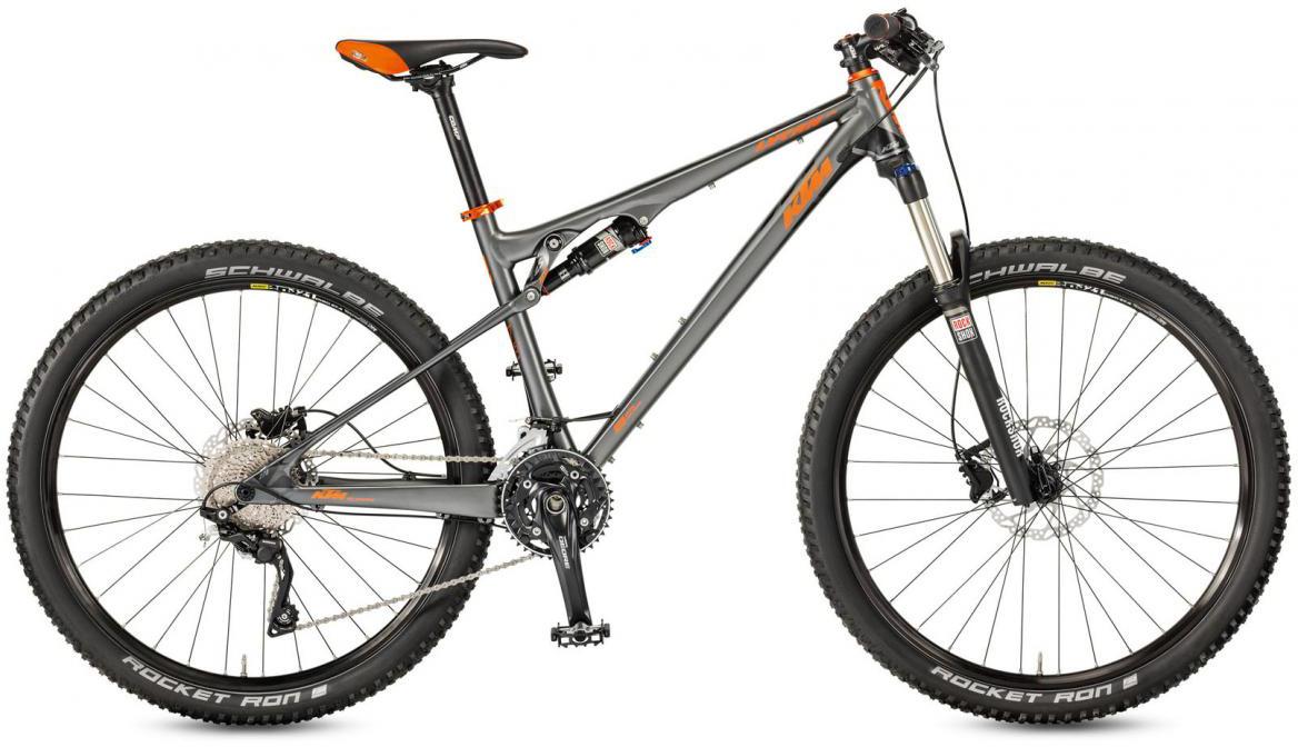 Велосипед горный KTM Lycan 274 30 2017, цвет: серый, рама 19, колесо 27,5282294
