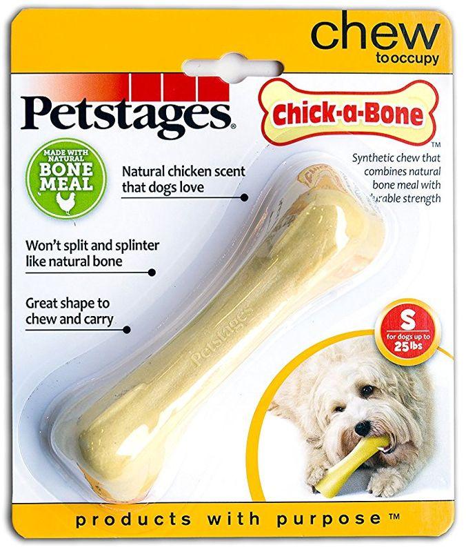 Игрушка для собак Petstages Chick-A-Bone. Косточка, с ароматом курицы, длина 11 см игрушка для собак dezzie косточка