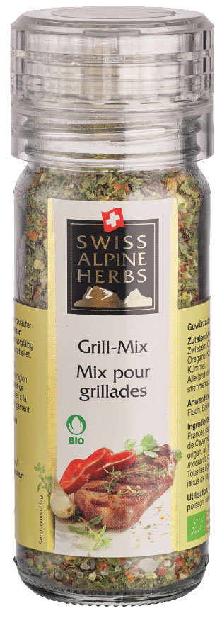 Swiss Alpine Herbs смесь специй для барбекю, 48 гSAH0009Смесь специй для барбекю, 48 г, мельница