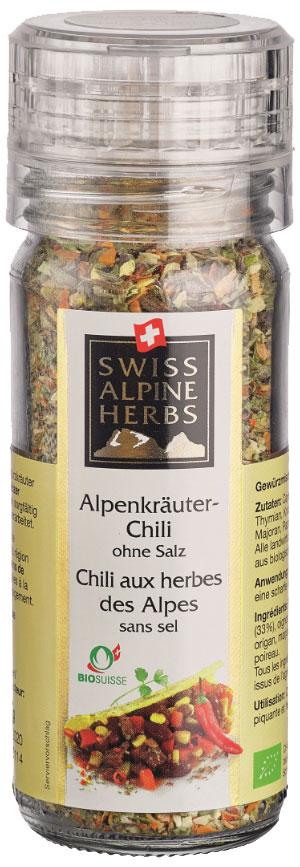 Swiss Alpine Herbs смесь специй с альпийскими травами острая без соли, 32 гSAH2009Смесь специй с альпийскими травами острая (без соли), 32 г, мельница