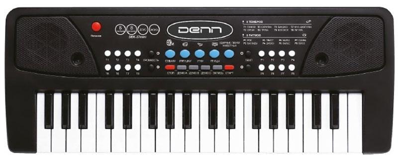 DennDEK37mini цифровой синтезаторDEK37miniСинтезатор Denn DEK37mini отлично подойдет для тех, кто желает сделать первые шаги в знакомстве с клавишными музыкальными инструментами. Инструмент имеет 8 стилей аккомпанемента, 8 предустановленных и 4 ударных тембра. В синтезатор встроено 6 мелодий. Мощность акустической системы составляет 1 Вт. Наложение тембров (Dual).