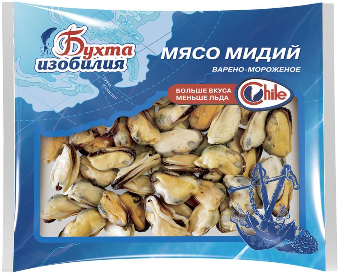 Бухта Изобилия Мясо мидий варено-мороженое, 500 г bravolli басмати рис 500 г