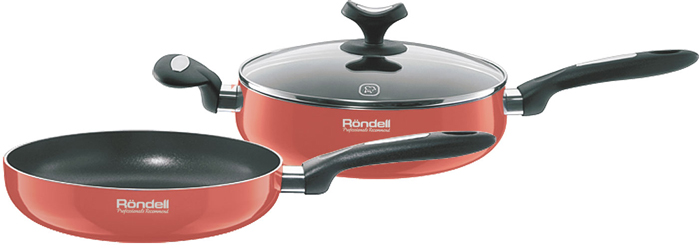 Набор посуды Rondell Koralle, с антипригарным покрытием, 3 предмета набор для подключения бочки boutte 3 предмета