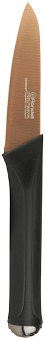 Нож для овощей Rondell Gladius, длина лезвия 9 смRD-694Нож для овощей Gladius Rondell изготовлен из высококачественной немецкойнержавеющей сталь X30Cr13.Характеристики: Особенности клинка: двусторонняя заточка лезвий, идеальная балансировка,твердость по шкале Роквелла 52-55 HRC. Материал рукоятки: прорезиненные ручки с удобным хватом, не позволяющим рукескользить. Использование: не рекомендуется мыть в посудомоечной машине.