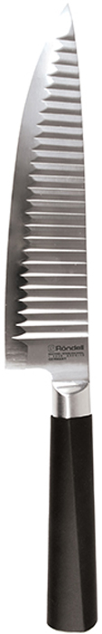 Нож поварской Rondell Flamberg, длина лезвия 20 смRD-680Нож поварской 20 см Flamberg Rondell RD-680,коллекция: Flamberg.Материал клинка: высококачественная нержавеющая сталь X30Cr13.Особенности клинка: двусторонняя заточка лезвий, идеальная балансировка,твердость по шкале Роквелла 52-55 HRC.Материал рукоятки: прорезиненные ручки с удобным хватом, не позволяющим руке скользить.Использование: не рекомендуется мыть в посудомоечной машине.Упаковка: блистер.Гарантия: 3 года.