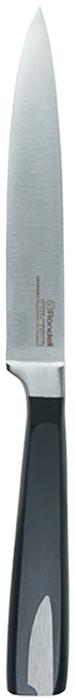 Нож универсальный Rondell Cascara, длина лезвия 12,7 смRD-688Нож универсальный Rondell Cascara изготовлен извысококачественной нержавеющей стали X30Cr13.Характеристики: Особенности клинка: двусторонняя заточка лезвий, идеальная балансировка, твердость по шкале Роквелла 52-55 HRC. Материал рукоятки: бакелит с вставками из нержавеющей стали в виде клинка ножа. Использование: не подходит для посудомоечной машины.