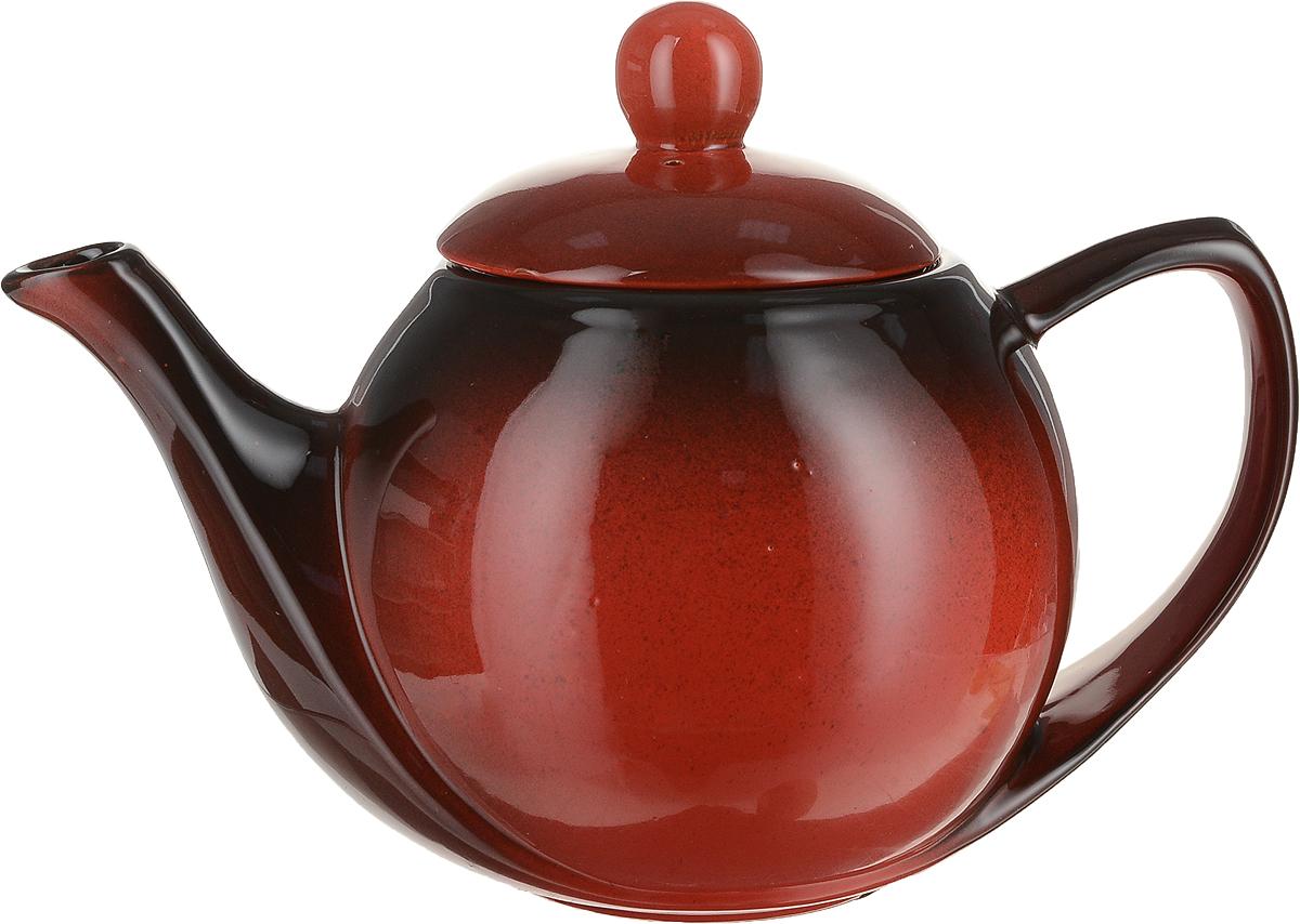 """Заварочный чайник Борисовская керамика """"Элегант"""" изготовлен из высококачественной керамики и имеет глазурованное покрытие. Благодаря такому материалу чай дольше сохраняет свою температуру.  Изысканный дизайн придется по вкусу и ценителям классики и тем, кто предпочитает современный стиль. Объем: 1,2 л."""