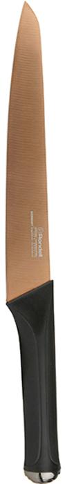 Нож разделочный Rondell Gladius, длина лезвия 20 смRD-691Нож разделочный Rondell Gladius выполнен из высококачественной немецкой нержавеющей стали X30Cr13.Особенности клинка: двусторонняя заточка лезвия, идеальная балансировка, твердость по шкале Роквелла 52-55 HRC.Прорезиненная рукоятка с удобным хватом, не позволяющим руке скользить. Не рекомендуется мыть в посудомоечной машине.