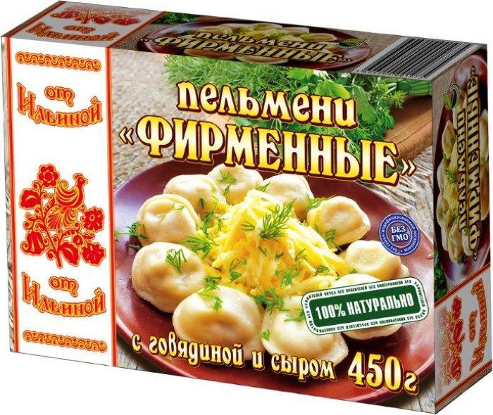 От Ильиной Пельмени Фирменные, 450 г056Фирменные пельмени От Ильиной с начинкой из отборной говядины и сыра - аппетитные пельмени, приготовленные по оригинальному рецепту. Сыр придает пельменям восхитительный аромат и сливочный вкус. Пельмени Фирменные прекрасно подходят в качестве обеда или ужина. Хорошо сочетаются с любым соусом.