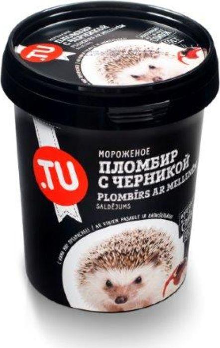 TuFood Мороженое Пломбир с черникой, 300 г даниссимо продукт творожный пломбир 5 4% 130 г