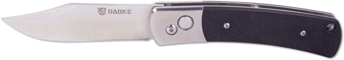 Нож автоматический Daoke, цвет: черный, длина клинка 8,9 см