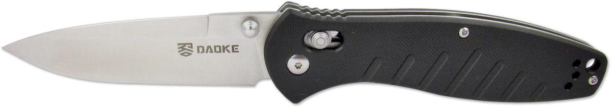 Нож складной Daoke, цвет: черный, длина клинка 8,9 см. D618b