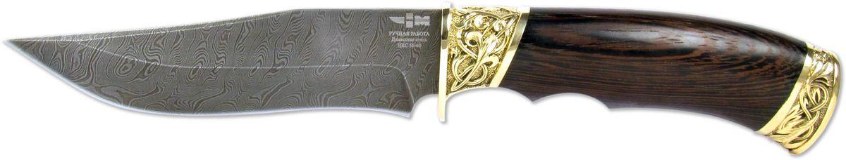 Нож охотничий Ножемир Акула, цвет: бежевый, темно-коричневый, длина клинка 14,2 см нож ножемир акула 7560 длина лезвия 136мм