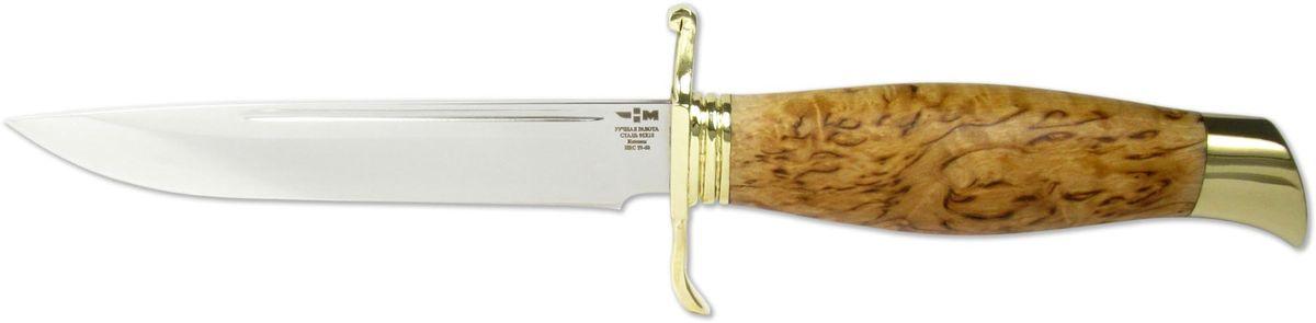 Нож нескладной Ножемир НКВД, цвет: бежевый, длина клинка 13,4 смНКВД (8097)кЭтот нож выполнен репликой легендарной финки НКВД, имеет очень удобную эргономичную рукоять и гарду для защиты ладони. Нож прекрасно подойдет охотнику и рыболову. Нож очень удобен в использовании. Рукоять выполнена из стабилизированный березы и украшена литьем из мельхиора, в комплекте идут очень удобные ножны.