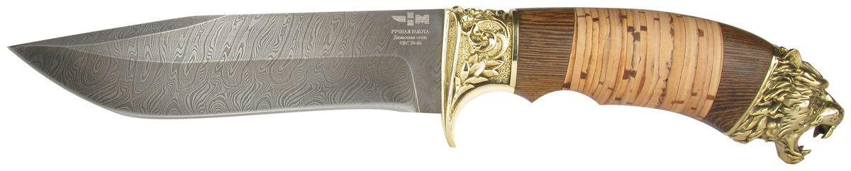 Нож охотничий Ножемир Таежник, цвет: бежевый, темно-коричневый, длина клинка 15,1 см