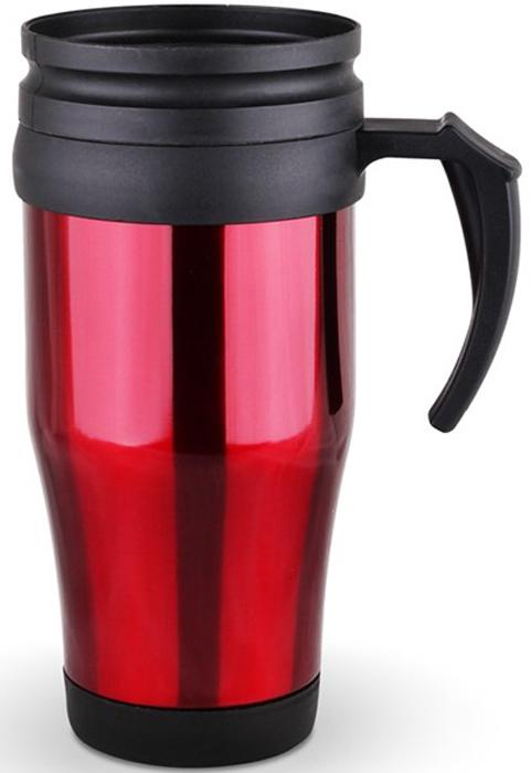 Термокружка Diolex, цвет: красный, 450 мл термокружка с крышкой 360 мл