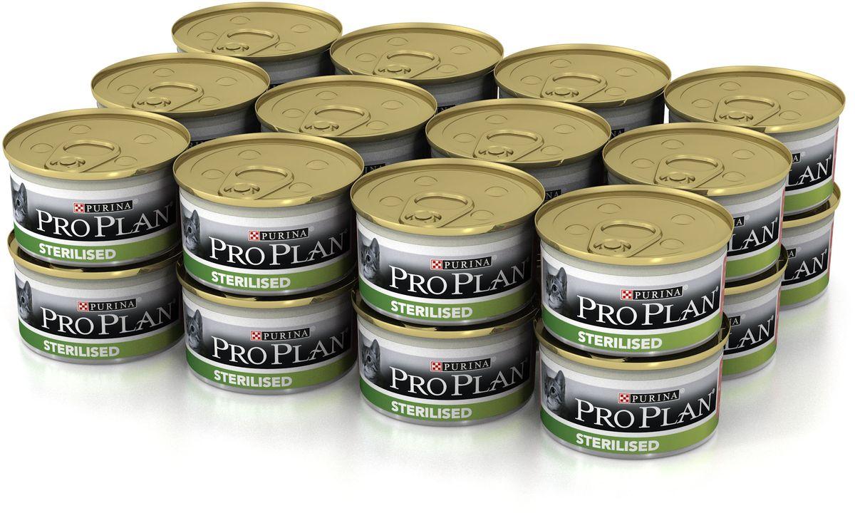 Консервы Purina Pro Plan для стерилизованных кошек и кастрированных котов, с тунцом и лососем, 85 г х 24 шт