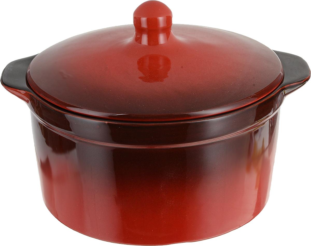 Кастрюля Борисовская керамика Красный, 2 лКРС00000403Кастрюля керамическая №1 КРС00000403. Материал: Керамика. Объем: 0,5