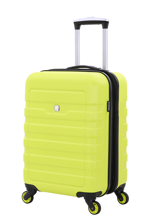 Чемодан Wenger Tresa, на колесах, цвет: салатовый, 38 лWG6581227154Надежный аксессуар для любых путешествий.Чемодан изготовлен из специального пластика повышенной прочности, имеет хорошую противоударную устойчивость и надежно защитит содержимое от загрязнения. Чемодан сконструирован особым компактным образом и обладает повышенной маневренностью. Телескопическая ручка из алюминия максимально складывается в специальный отсек. Четыре поворотных колеса имеют полноценный радиус вращения. Для комфорта при транспортировке сверху чемодана предусмотрена внешняя ручка. Чемодан закрывается на двустороннюю молнию, бегунки с функцией крепления замка.Внутреннее отделение разделено на отсеки: имеются два отсека повышенной вместительности для основных вещей – нижний, с х-образной резинкой-фиксатором и верхний отдел с эластичной сеткой – для дополнительных вещей, с закрывающимся клапаном на молнии. Также предусмотрен карман для полезных мелочей.Такой компактный чемодан пригоден для использования в качестве ручной клади в большинстве авиакомпаний мира.Чемодан представлен в ярком дизайне и фактурной отделкой корпуса.Вес: 2,8 кг; объем: 38 л.Размер: 35 x 24 x 54 см.Как выбрать чемодан. Статья OZON Гид