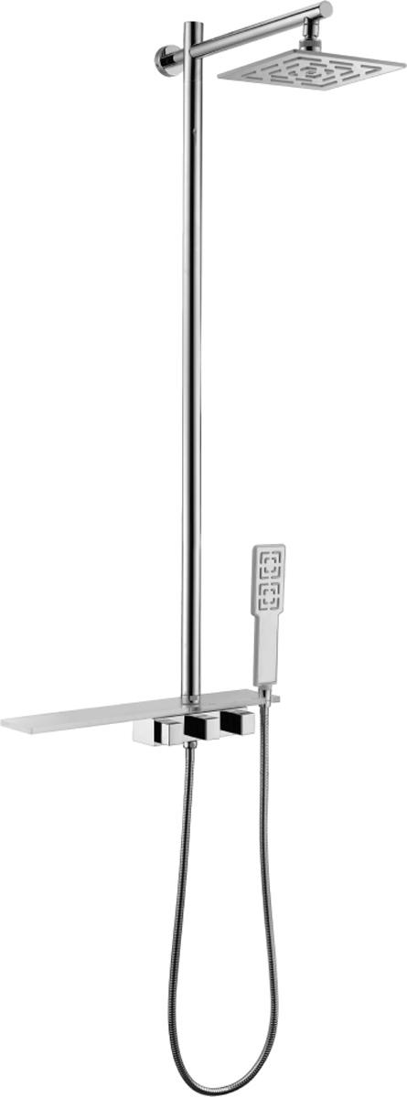 Смеситель Lemark Tropic LM7001C, для душаLM7001CTROPIC LM7001C.Смеситель для душа с фиксированной высотой штанги и верхней душевой лейкой «Тропический дождь».Комплектация:• кран-буксы с керамическими пластинами (угол поворота – 90 градусов)• переключатель с керамическими пластинами• верхняя поворотная душевая лейка «Тропический дождь» 203х203 мм• акриловая полочка для душевых принадлежностей с держателем для лейки• 1-функциональная лейка• душевой шланг 1,5 м (стальной, оплетка с двойным загибом)• металлические рукояткиСмесители LEMARK рассчитаны на 30 лет комфортной эксплуатации.В них соединены современные технологии производства и продуманный конструктив. Установлены комплектующие от известных мировых производителей, являющихся лидерами в своих сегментах:• немецкие аэраторы Neoperl – устройства, регулирующие расход воды;• керамические картриджи и кран-буксы испанской фирмы Sedal.Вся продукция LEMARK устанавливается не только в частном секторе, но и с успехом эксплуатируется в офисах Hewlett-Packard, Walt Disney Studios Sony Pictures Releasing, Mail.ru Group, а также в новом терминале аэропорта «Толмачево» в Новосибирске.Сегодня на смесители LEMARK установлен беспрецедентный 10-летний период бесплатного сервисного обслуживания. Данное условие действует, даже если монтаж изделий производится покупателями cамостоятельно.Сервисная сеть насчитывает 90 гарантийных мастерских по России и странам СНГ.