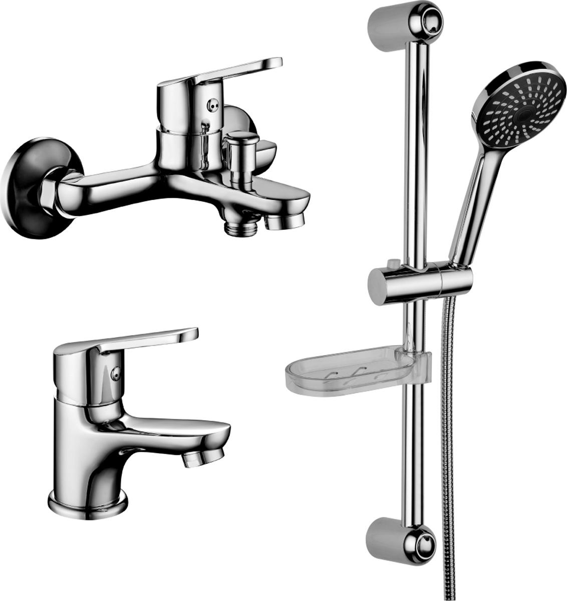 Комплект смесителей Lemark Set, для ванной, 3 в 1LM7301CLM7301C.Комплект смесителей «3 в 1»:Смеситель для умывальника монолитный.• аэратор• керамический картридж 35 мм• гибкая подводка 1/2 35 см• металлическая рукояткаСмеситель для ванны с монолитным изливом.• аэратор• керамический картридж 35 мм• кнопочный переключатель с функцией ручной фиксации• металлическая рукояткаДушевой гарнитур.• стойка для душа. Высота – 595 мм• 1-функциональная лейка O98 мм. Режим: распыление• регулируемое по высоте крепление для лейки• душевой шланг 1,5 м (стальной, оплетка с двойным загибом)• регулируемая по высоте мыльницаСмесители LEMARK рассчитаны на 30 лет комфортной эксплуатации.В них соединены современные технологии производства и продуманный конструктив. Установлены комплектующие от известных мировых производителей, являющихся лидерами в своих сегментах:• немецкие аэраторы Neoperl – устройства, регулирующие расход воды;• керамические картриджи и кран-буксы испанской фирмы Sedal.Вся продукция LEMARK устанавливается не только в частном секторе, но и с успехом эксплуатируется в офисах Hewlett-Packard, Walt Disney Studios Sony Pictures Releasing, Mail.ru Group, а также в новом терминале аэропорта «Толмачево» в Новосибирске.Сегодня на смесители LEMARK установлен беспрецедентный 10-летний период бесплатного сервисного обслуживания. Данное условие действует, даже если монтаж изделий производится покупателями cамостоятельно.Сервисная сеть насчитывает 90 гарантийных мастерских по России и странам СНГ.