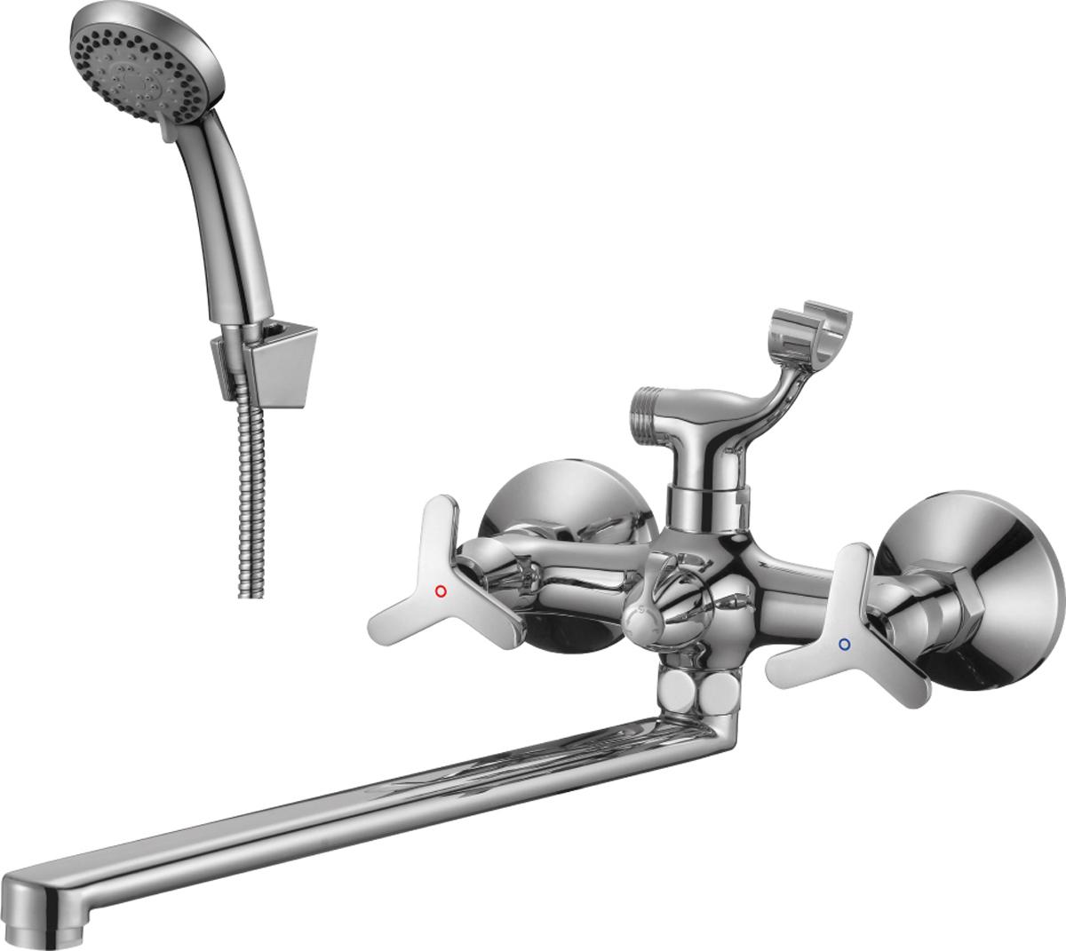 Смеситель Rossinka, для ванны универсальный. RS40-84RS40-84Смеситель универсальный с плоским поворотным изливом изготовлен из высококачественного металла.Комплектация:пластиковый аэратор с функцией легкой очистки;керамические вентильные головки;переключатель с керамическими пластинами;аксессуары в комплекте (шланг 1,5 м, 3-функциональная лейка с функцией легкой очистки);присоединительная группа (эксцентрики с отражателями) для вертикального крепления;металлические рукоятки.