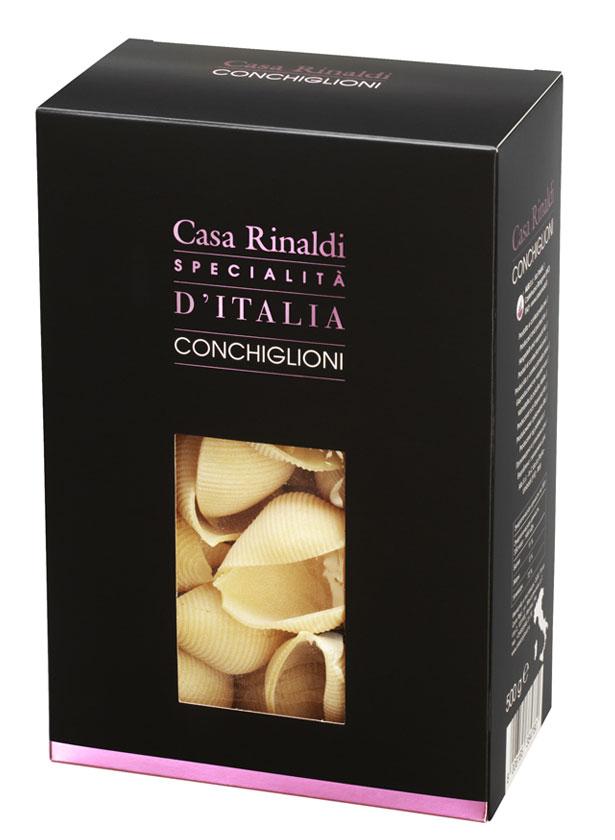 Casa Rinaldi Паста Конкильони из Умбрии ракушки, 500 г casa rinaldi паста фузилли без глютена из кукурузной и рисовой муки 500 г