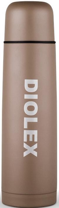 Термос Diolex, цвет: коричневый, 500 мл