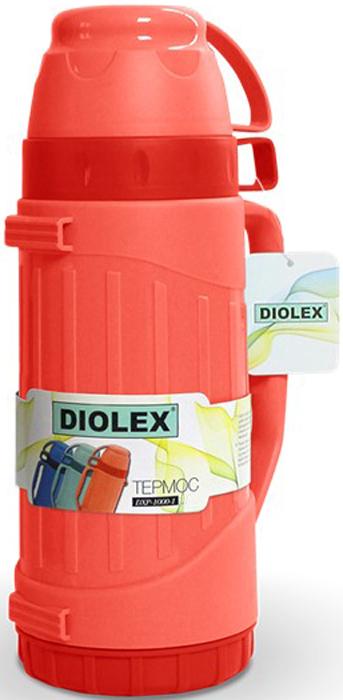 Термос Diolex, цвет: красный, 1,8 л