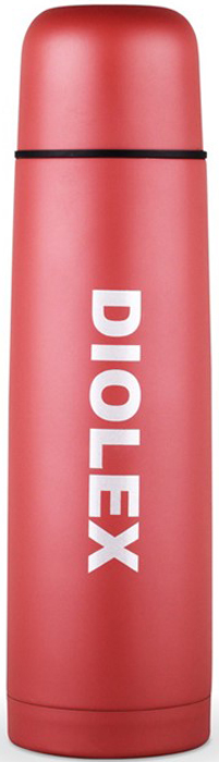 Термос Diolex, цвет: красный, 500 млDX-500-2-RТермос Diolex ( с узким горлом 0,5 цветной /красный, синий,какао)