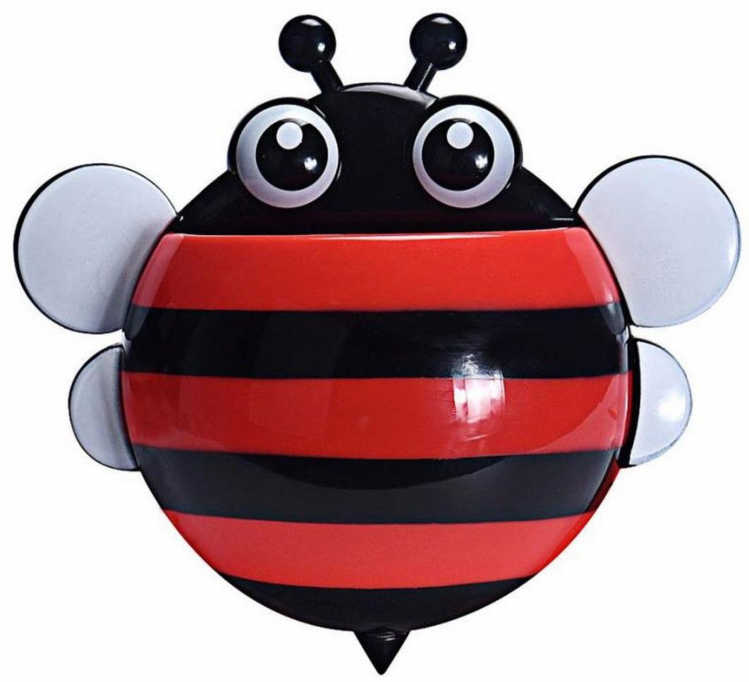 Держатель для зубных щеток Ruges Пчелка, цвет: красныйV-18Держатель для зубных щеток Ruges Пчелка на стену или мебель на присосках – проще простого. Надоест – сняли безо всяко ущерба. А пока не надоел - очень славная дружественная мелочь, которая поживет у вас в ванной. Можно дать Пчелка имя. Дети будут в восторге, тем более что Держатель Пчелка легко прикрепить удобно для роста ребенка – сам будет брать свои щетку и пасту. И не только дети обрадуются. Взрослый, у которого очень стильная ванная, но ему скучно по утрам чистить зубы в одиночестве, тоже будет рад. Не признается, но рад будет! Размеры: 17 х 15 х 5 см; Вес: 50 г; Материал: пластик, ПВХ, силикон. Комплектация: держатель 1 шт, присоски для крепления - 3 шт.