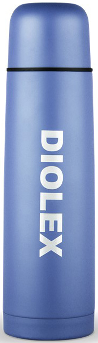 Термос Diolex, цвет: синий, 500 мл термос miessa цвет белый синий коричневый 500 мл