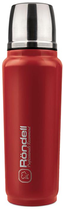 """Термос Rondell """"Fiero"""" выполнен из высококачественной нержавеющей стали 18/10 и пластика.  Специальное внешнее термостойкое покрытие для легкого ухода. Основной цвет - красный. Медная металлизация внутренней колбы для лучшего сохранения температуры. Удобная система открывания и наливания без потери температур."""