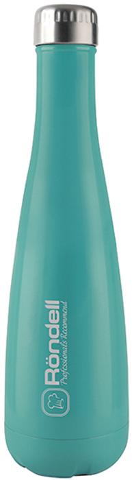 Термос Rondell Turquoise, 750 млRDS-911Термос Rondell Turquoise выполнен из высококачественной нержавеющей стали 18/10 и пластика. Внешнее глянцевое термостойкое покрытие. Основной цвет - бирюзовый. Медная металлизация внутренней колбы для лучшего сохранения температуры. Плотно прилегающая завинчивающаяся пробка.
