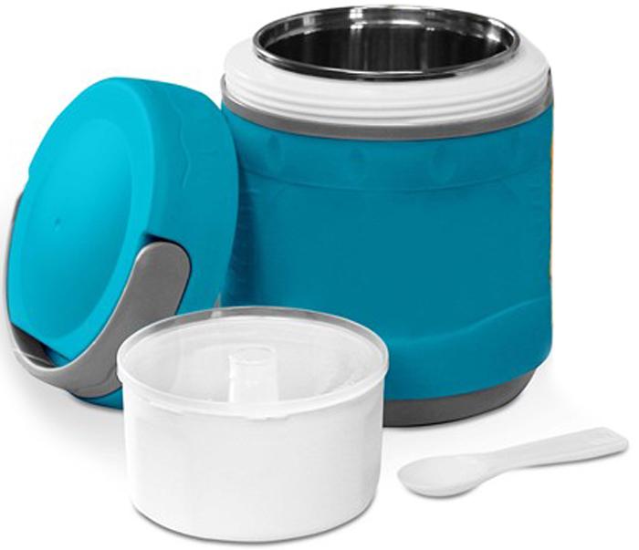 Термос-контейнер Diolex, цвет: синий, 1,2 лDXС-1200-2-BТермос пищевой вакуумный с колбой из нержавеющей стали в пластиковом корпусе предназначен для хранения горячих первых и вторых блюд. Сохраняет напитки и продукты горячими на 12 часов или холодными на 24 часа. Термос имеет удобную ручку для переноски.В комплект входят чашка и ложка из пластика.