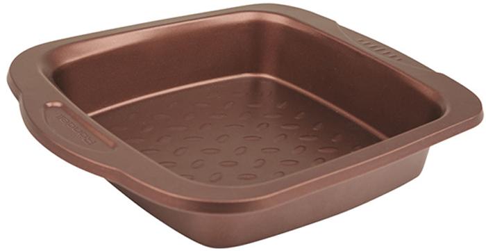 Форма для выпечки Rondell Kortado, квадратная, с антипригарным покрытием, 26,8 х 21,8 смRDF-906Форма квадратная RONDELL Kortado, 26,8 х 21,8см, материал: углеродистая сталь