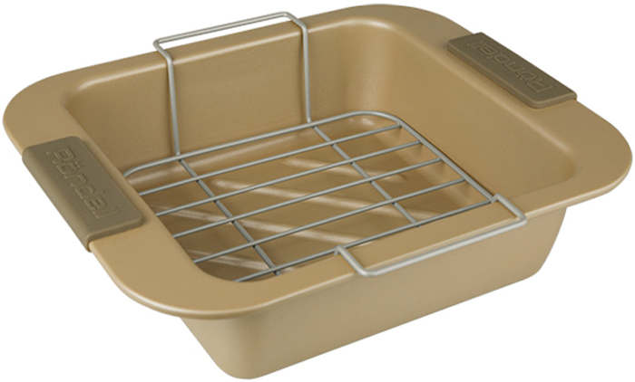 Форма для запекания Rondell, квадратная, с керамическим покрытием, 28 х 23 смRDF-415Посуда для запекания RONDELL квадратная 28х23см, материал: алюминизированная сталь, с решеткой Champagnе