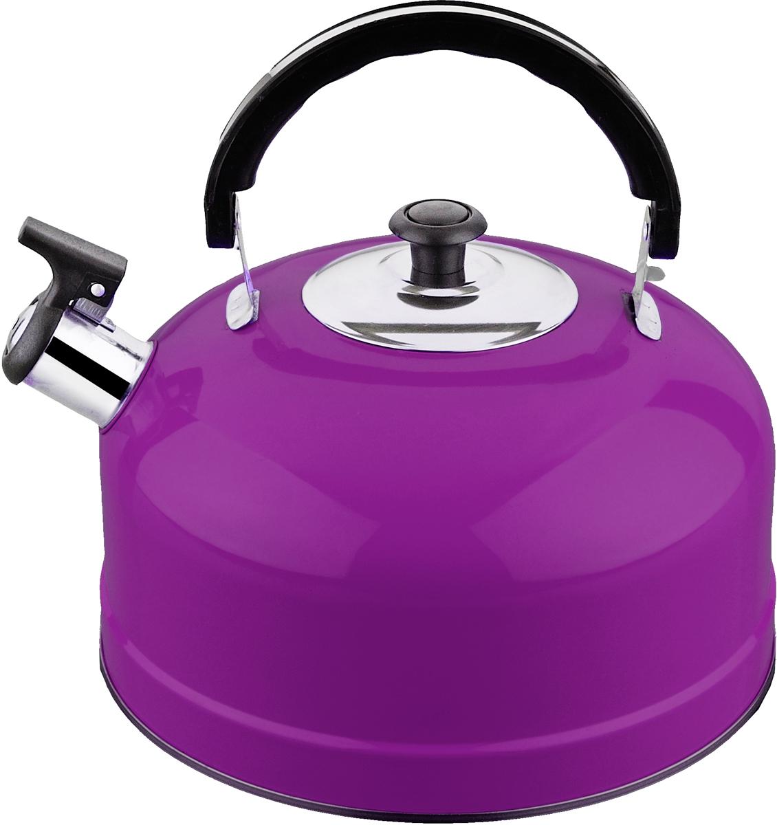 Чайник Irit, со свистком, цвет: красный, 2,5 лIRH-418 фиолетовыйЧайник из нержавеющей стали со свистком, объем 2,5 л. Изготовлен из высококачественной нержавеющей стали, однослойное дно. Подвижная ручка из термостойкого пластика. Ручка не нагревается.