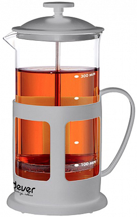 Френч-пресс Endever EcoLife, 350 мл. FP-353TC -202Френч-пресс Endever EcoLife изготовлен из высококачественной нержавеющей стали,жаропрочного стекла и пластика. Жаропрочное стекло может выдерживать температуру до 180°С.Засыпая чайную заварку или кофе под фильтр, заливая горячей водой, вы получаете ароматныйнапиток с оптимальной крепостью и насыщенностью. Остановить процессзаваривания легко, для этого нужно просто опустить поршень, и все уйдет вниз, оставляявверху напиток, готовый к употреблению. Френч-пресс Endever EcoLife позволит быстро и простоприготовить свежий и ароматный кофе или чай.
