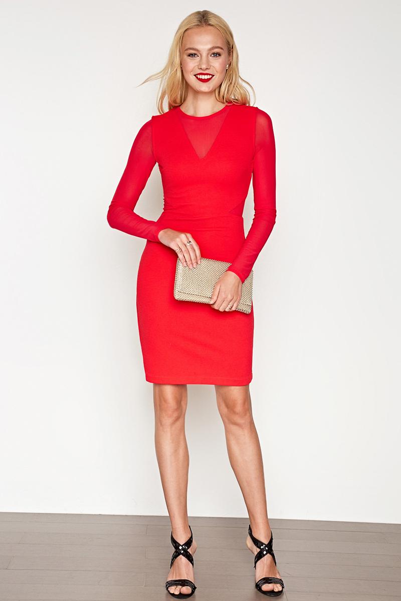 Платье Concept Club Holly, цвет: красный. 10200200390_1500. Размер L (48) платье с вставками из сетки tuzzi платья и сарафаны приталенные