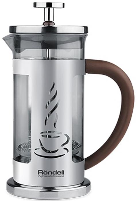 Френч-пресс Rondell Mocco&Latte, 350 мл. RDS-490 френч пресс rondell mocco&amp latte rds 491 1 л нержавеющая сталь серебристый