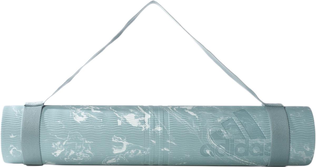 Мат для йоги Adidas Yoga Mat Camo, цвет: зеленый, 75 x 61 см коврик для йоги 24 x 72 titoni yoga mat