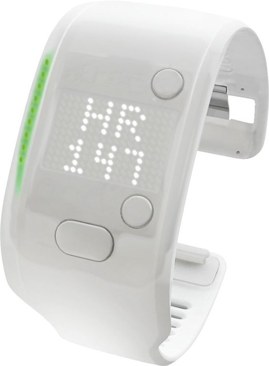 Браслет электронный Adidas  Micoach Fit Smart , цвет: белый, размер L - Умные часы