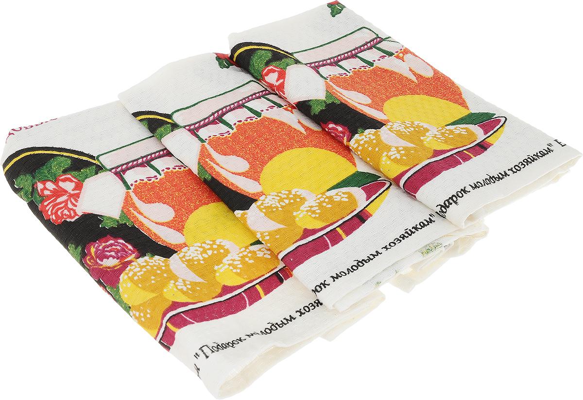 Набор кухонных полотенец Bonita Народные рецепты, 59 х 44 см, 3 шт. 10108153971010815397