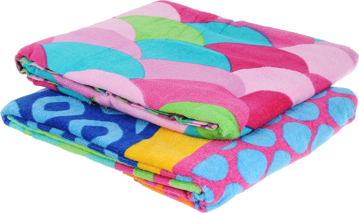 Набор пляжных полотенец Bonita, цвет: синий, желтый, малиновый, 75 х 150 см, 2 шт1010216818Набор Bonita состоит из двух пляжных полотенец, выполненных из натуральной махровой ткани (100% хлопка). Изделия отлично впитывают влагу, быстро сохнут, сохраняют яркость цвета и не теряют формы даже после многократных стирок.Полотенца Bonita очень практичны и неприхотливы в уходе. Такой набор послужит приятным подарком.