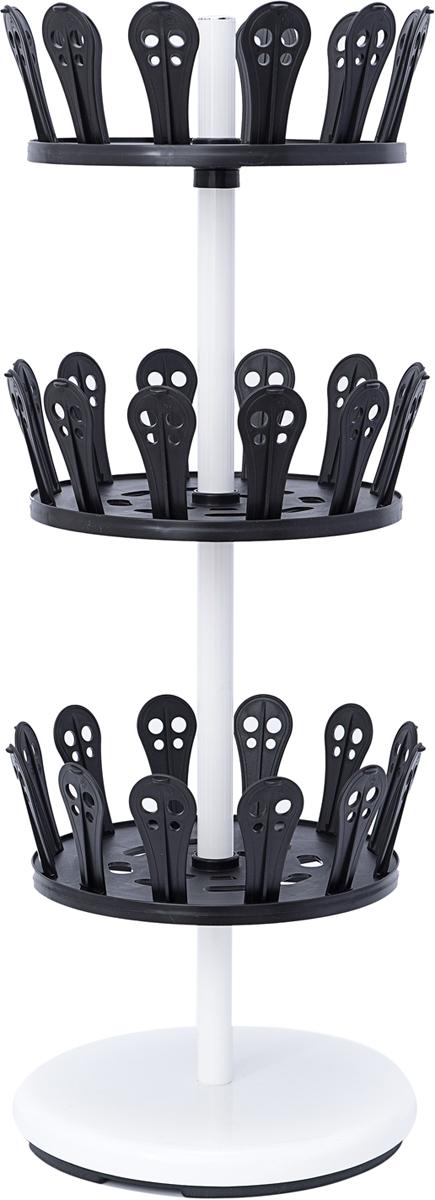 Подставка для обуви Homsu, на 18 парHOM-8303-х ярусная система для ханения обуви Homsu состоит из прочного стального каркаса и 36 пластиковых держателей для обуви. Такая система идеально подойдет для установки в прихожей, гардеробной или шкафу-купе. Она поможет сохранить Вашу обувь от повреждений, наведет порядок и оптимизирует пространство в вашем доме.
